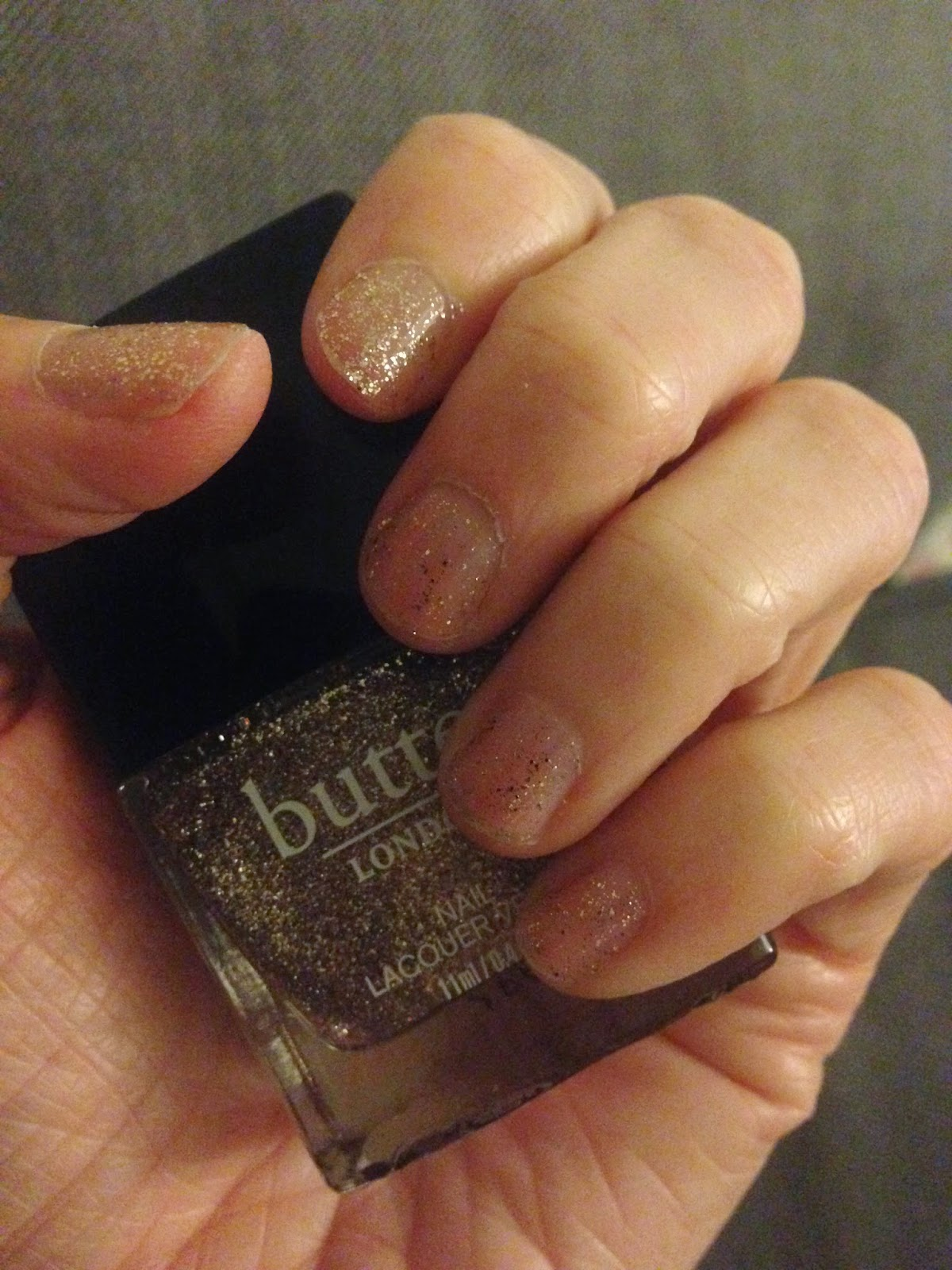 butter london glitter nail polish gold