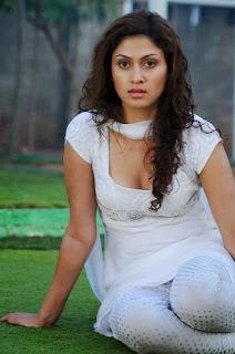 Manjari Fadnis in a sexy white salwar