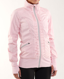Style Athletics Pink Lululemon Zipper Jacket Pleated
