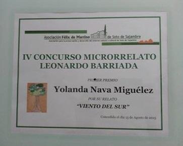 """""""Viento del sur"""" Ganador IV concurso de relatos Leonardo Barriada 15-08-2015"""