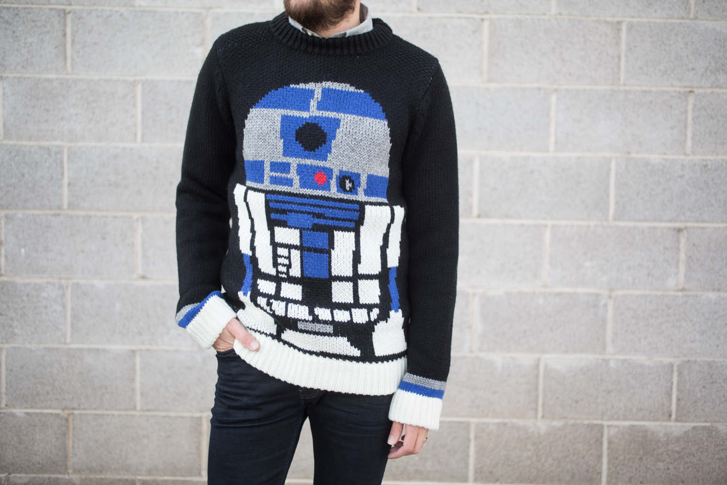 Elevnises r2d2 Star Wars sweater from Revolve clothing
