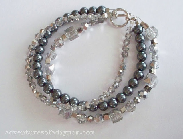 sparkle and pearl bracelet