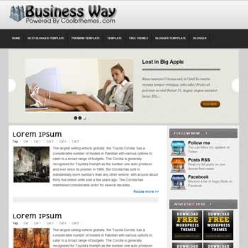 Business Way blogger template. template blogspot free