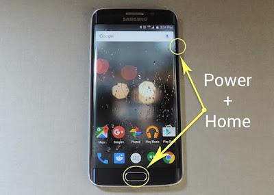 tekan tombol power dan home untuk mengambil screenshot