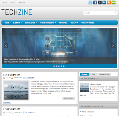 قالب TechZine معرب من اجلكم