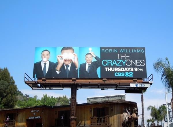 Crazy Ones series premiere billboard