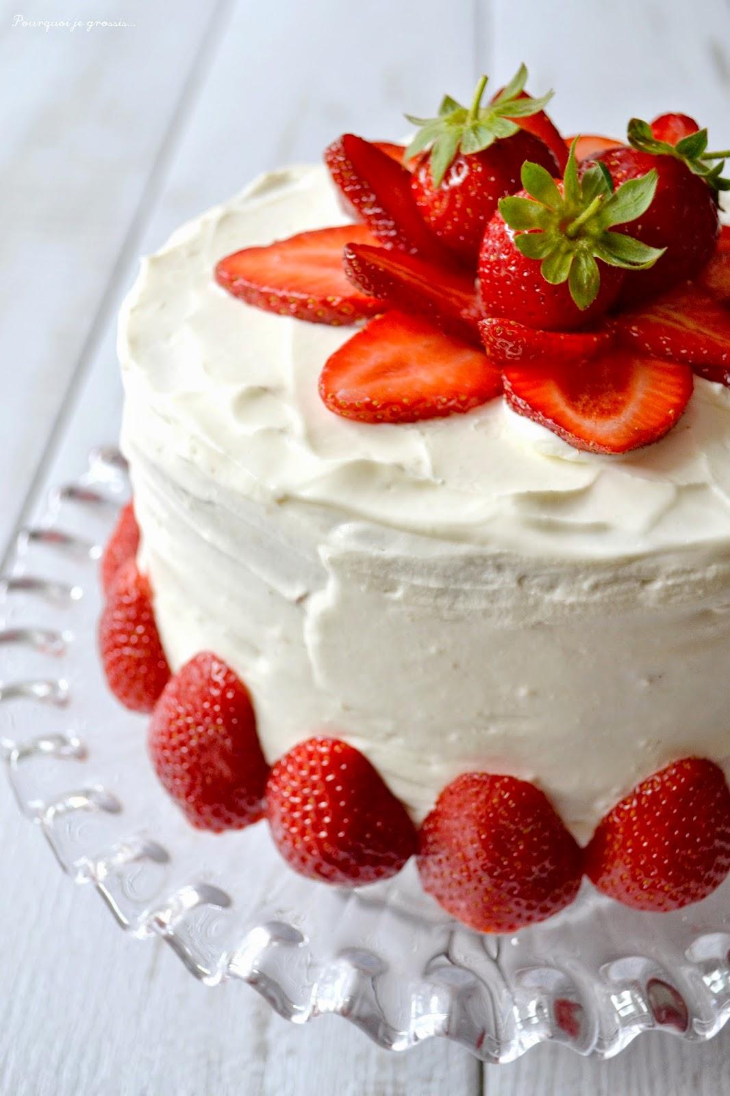 Pourquoi je grossis layer cake fraises citron for Pourquoi je grossis
