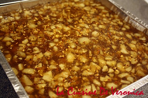 La Cuisine De Veronica, V女廚房, 賀年糕點, 馬蹄糕, 桂花馬蹄糕, Water Chestnut Cake, Water Chestnut Cake with Sweet Olive Flowers