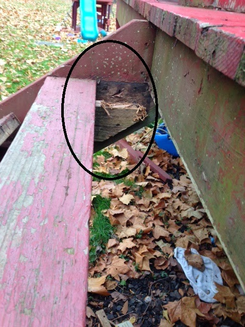 Rotted Deck Support