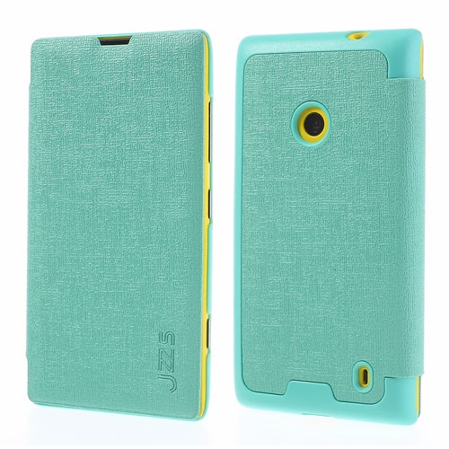 Oracle Grain Texture Slim Leather Flip Case for Nokia Lumia 520 525 - Baby Green