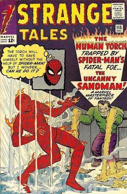 Strange Tales #115, the Human Torch v the Sandman