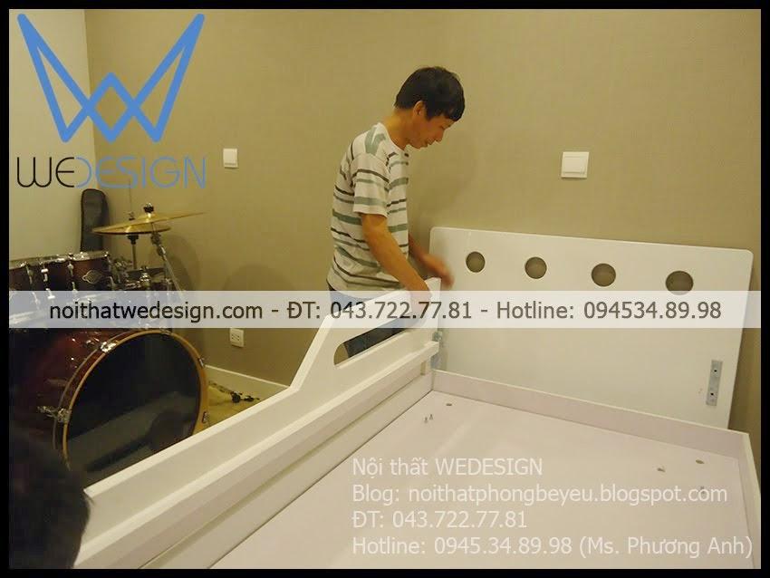 Giường 2 tầng thấp có 3 ngăn kéo