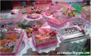 Hantaran Warna Pink Simple, Hantaran Cara Kampung