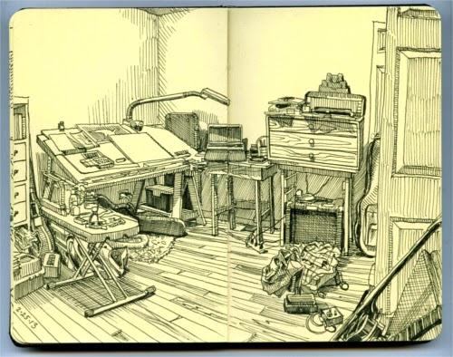 00-Paul-Heaston-Moleskine-Drawings-Points-of-View-www-designstack-co