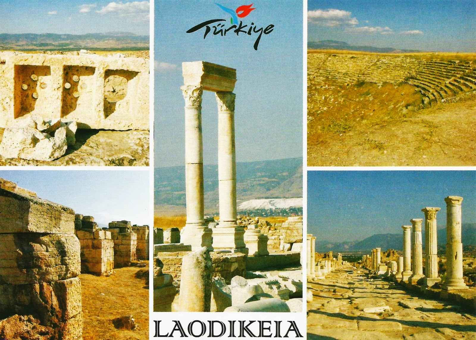 Postcards on My Wall: Archaeological site of Laodikeia, Turkey (Unesco Tentat...
