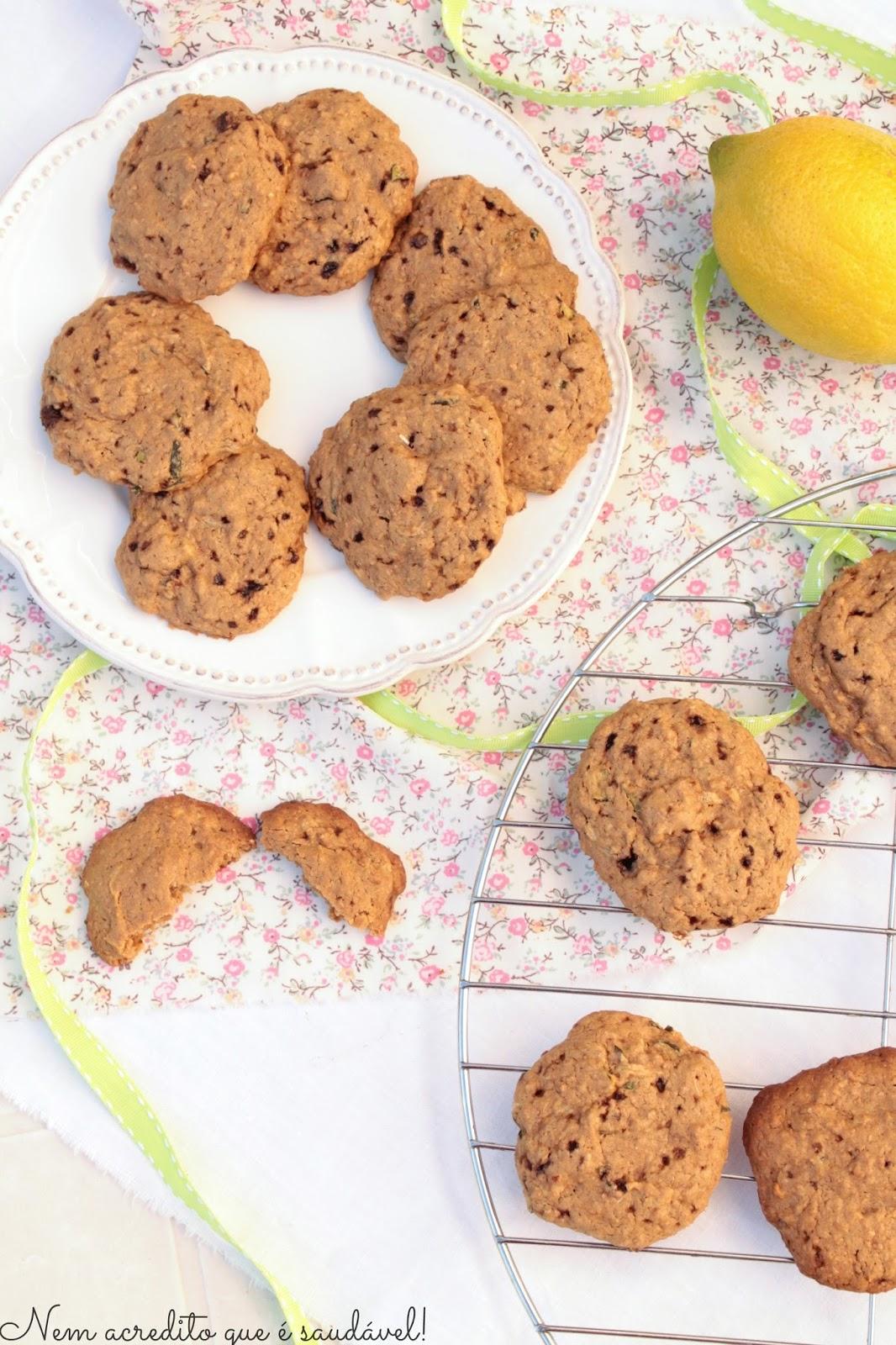 ... Bolachas de courgete e limão (Vegan). Zucchini lemon cookies (vegan