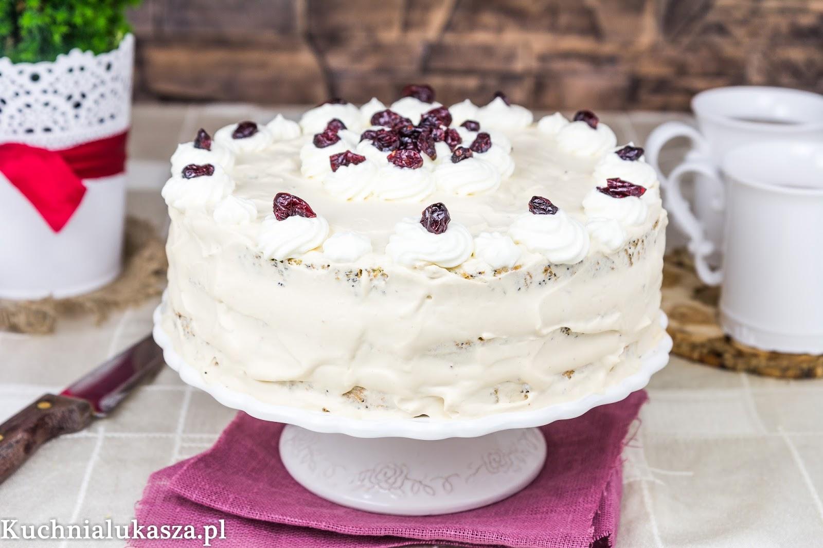 Tort makowy z kremem kajmakowym na drugie urodziny bloga!
