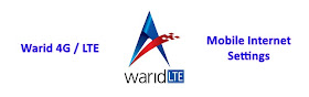 Warid 4G manual settings