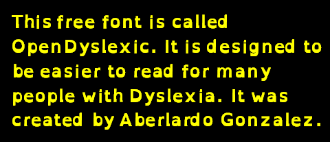 This free font is called OpenDyslexic. It is designed to be easier to read for many people with Dyslexia. It was created by Aberlardo Gonzalez.