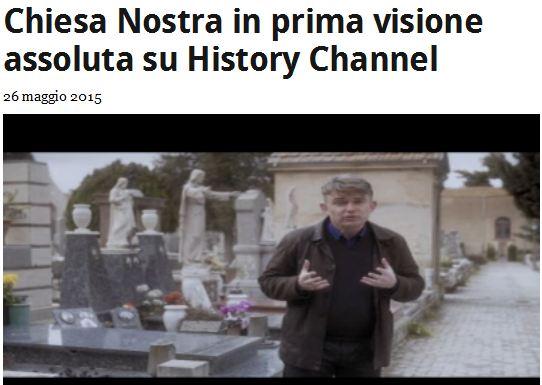 Chiesa Nostra giovedì 28 maggio in prima visione assoluta su History Channel