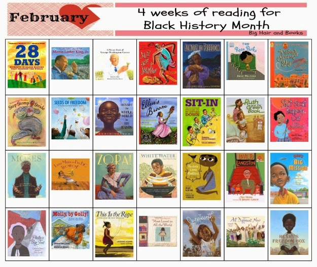 4 Week Calendar of Reading for Black History Month