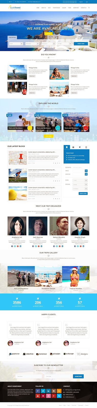 Best Travel and Tourism Bootstrap Template