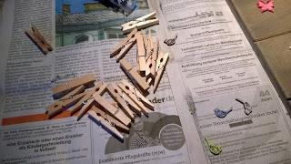Holzwäscheklammern vor dem Dekorieren