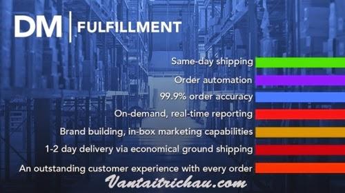 Trung tâm phân phối vận tải DM Fulfillment Hoa Kỳ