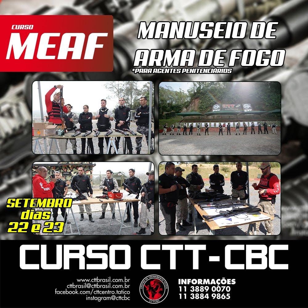 FAÇA JÁ A SUA INSCRIÇÃO PARA O CURSO MEAF - CTT/CBC