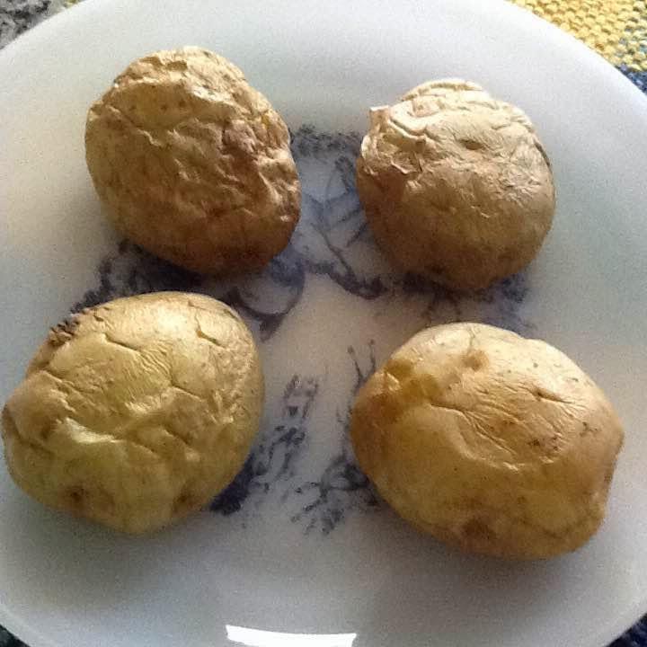 Cocinando con rosita papas al microondas - Cocinando con microondas ...