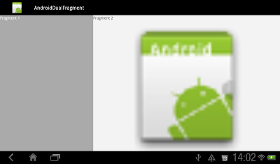 Dual Fragment App