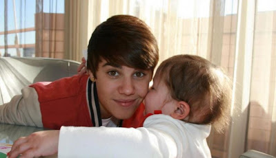 Justin Bieber and Avalanna Routh share a tender moment