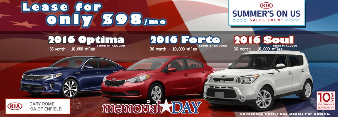 News from Gary Rome Kia of Enfield - A Gary Rome Kia Site (866) 688-4279