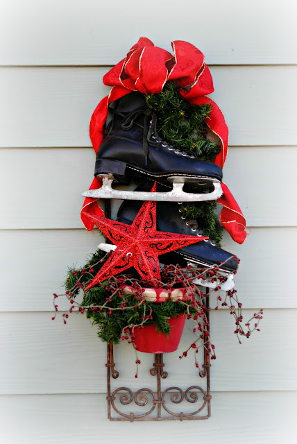 Christmas decor ice skates