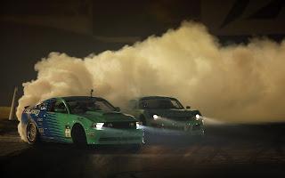Real Mustang Drift Smoke HD Wallpaper