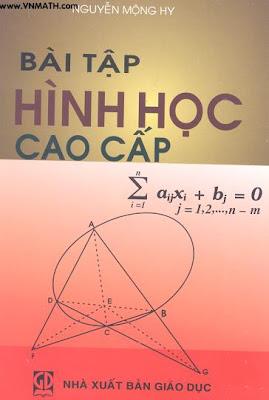 Bài tập Hình học cao cấp - Nguyễn Mộng Hy