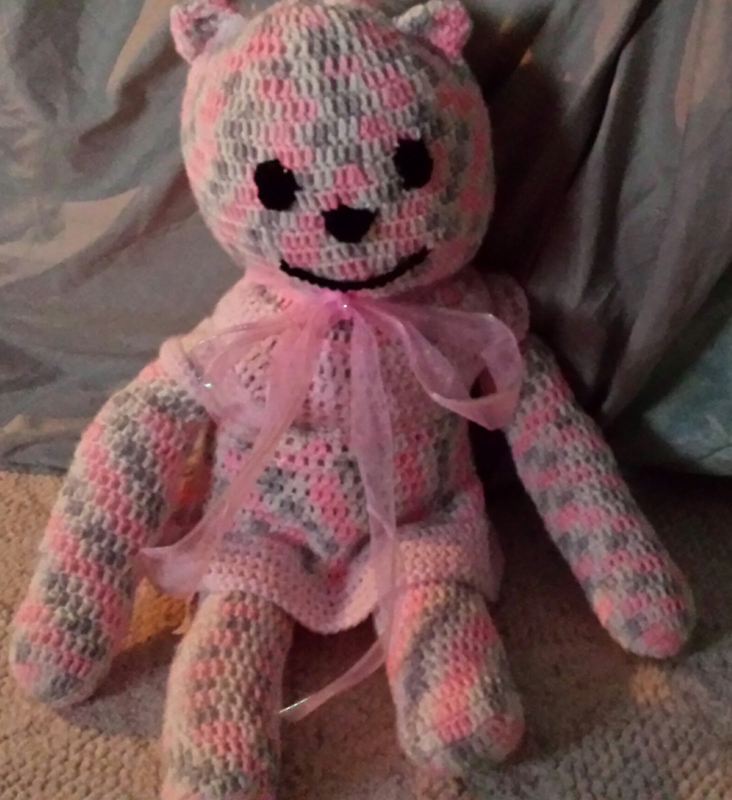 Craftdrawer crafts favorite crochet teddy bear pattern crochet my latest project is a crocheted teddy bear made using bernat softee baby yarn in the color pink flannel i used the free buttercup bear pattern but bankloansurffo Choice Image