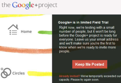 Google+ Still in Limited Trial but the Mobile Apps is Available