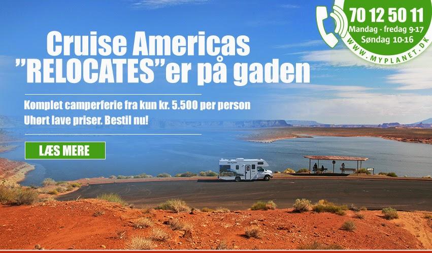 Cruise America motorhome relocate i Canada og USA