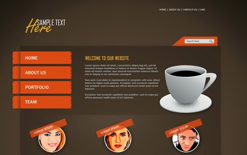 Photoshop Tutorial Web Design CoffeeClub