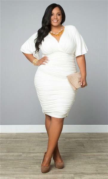 Moda plus size - moda tamanhos grandes vestido branco