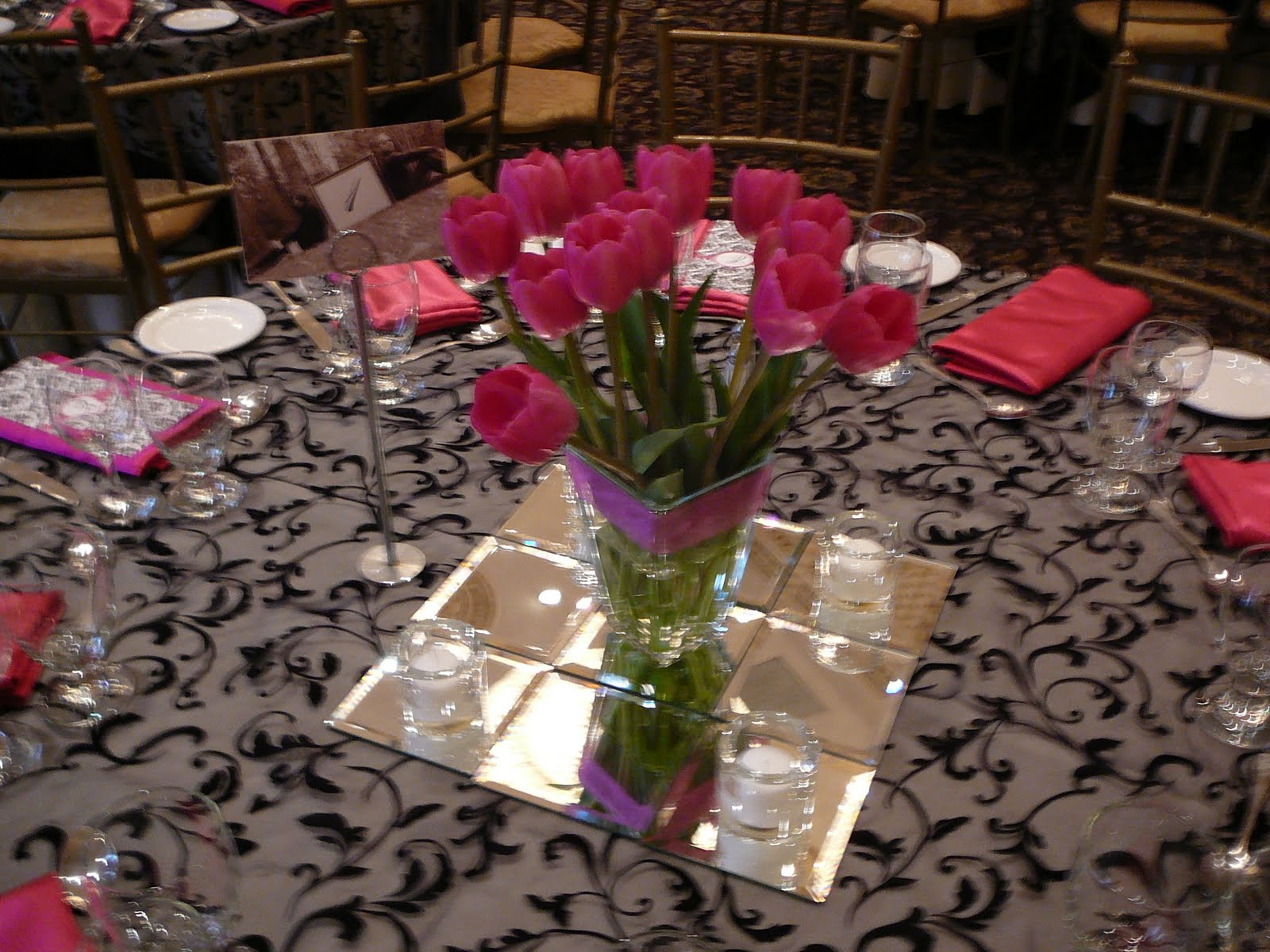 Flower and Event Decor. Ostrich Feather Centerpieces: Spring Wedding ...