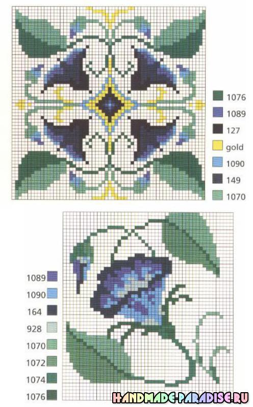 Миниатюрные схемы для вышивки