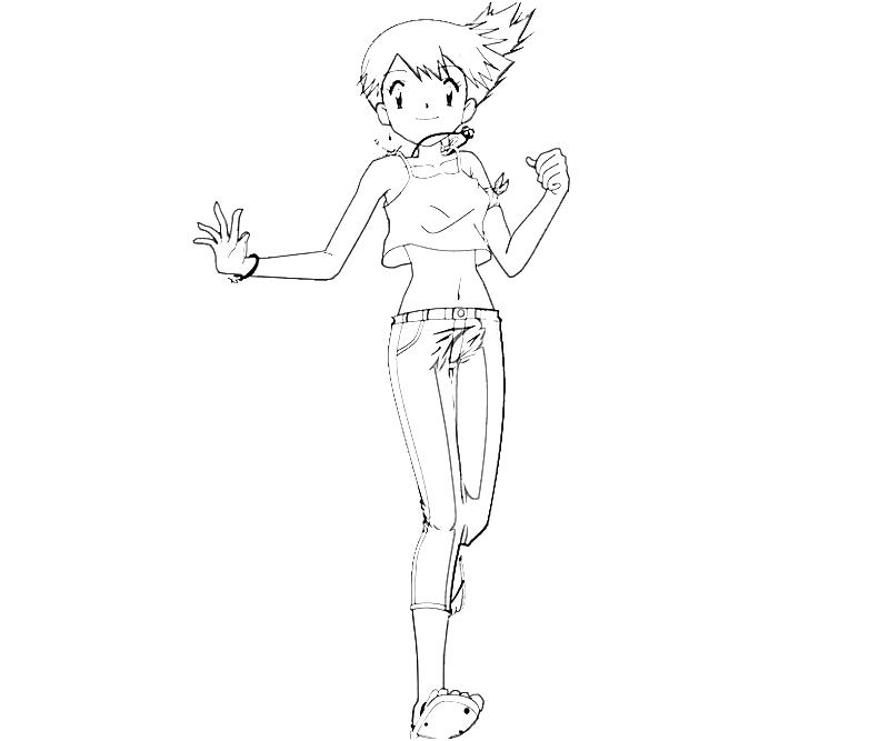 ash misty coloring pages - photo#26