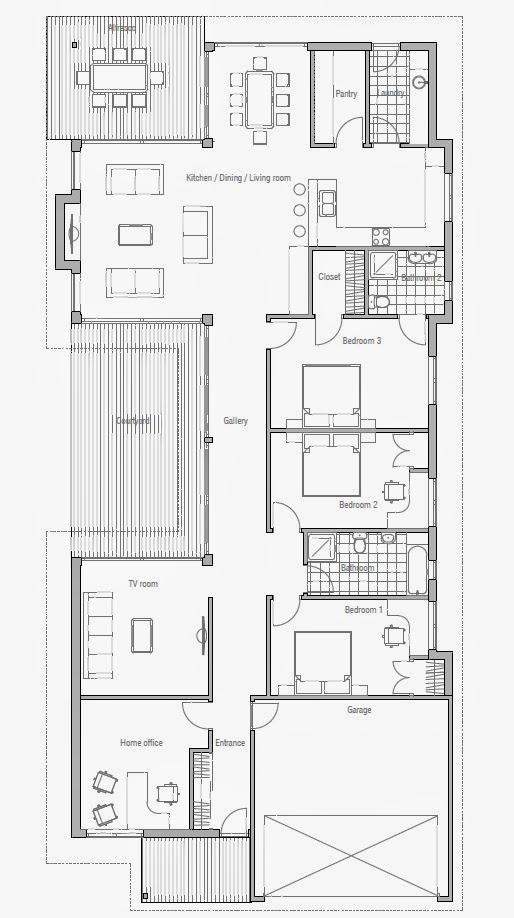 Australian house plans modern australian home plan ch106 for Modern australian house plans