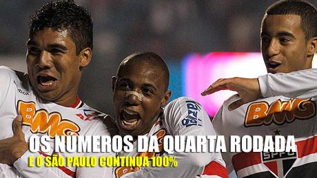 Números da quarta rodada do brasileiro 2011, São Paulo continua 100%, Trio de ferro paulista na frente