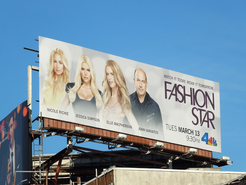 Fashion Star TV billboard