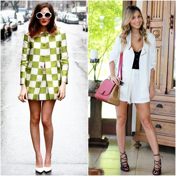 Looks Conjuntinhos Verde Branco Short Quadriculado