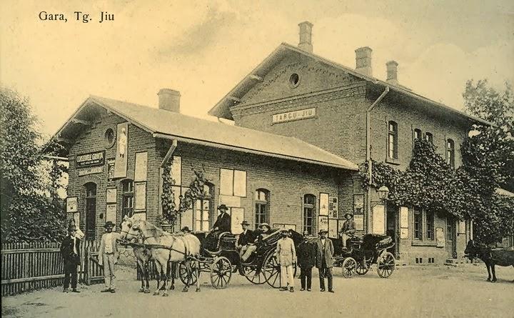 Gara din Targu Jiu de altadata