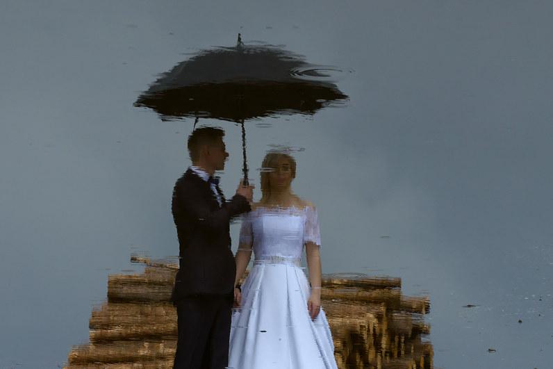 vestuvės per lietų